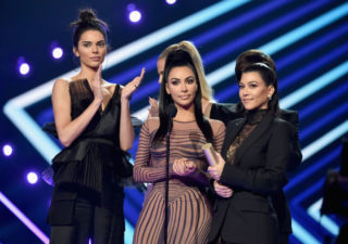 Kendall Jenner and Khloe, Kourtney and Kim Kardashian at People's Choice Awards 2018 in Santa Monica