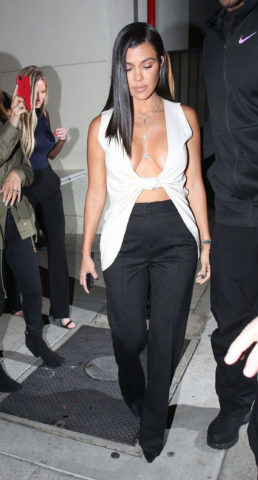 Kourtney Kardashian at Craig's Restaurant in West Hollywood