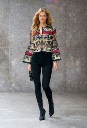 Nadine Leopold at Victoria's Secret Fashion Show Fittings in New York