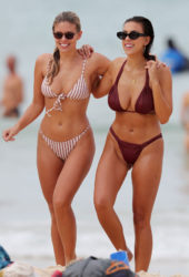 Natasha Oakley and Devin Brugman in Bikinis on Bondi Beach in Sydne
