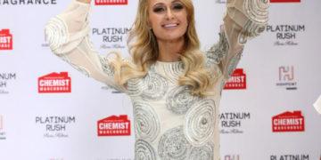 Paris Hilton launch of her 24th fragrance Platinum Rush in Melbourne