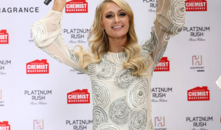 Makeup – Paris Hilton launch of her 24th fragrance Platinum Rush in Melbourne