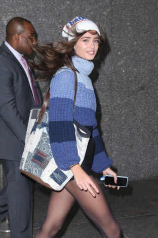 Taylor Hill leaves Victoria Secret office in New York