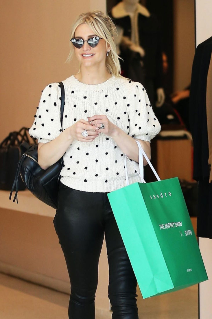 Ashlee Simpson Out Shopping in Beverly Hills