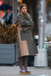 Doutzen Kroes at a Photoshoot Set in New York City
