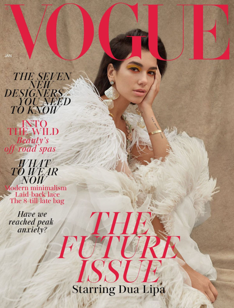Dua Lipa on the Cover of Vogue Magazine (UK January 2019)