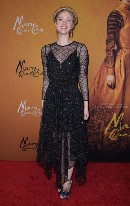 Elena Kampouris at Mary Queen of Scots premiere in New York