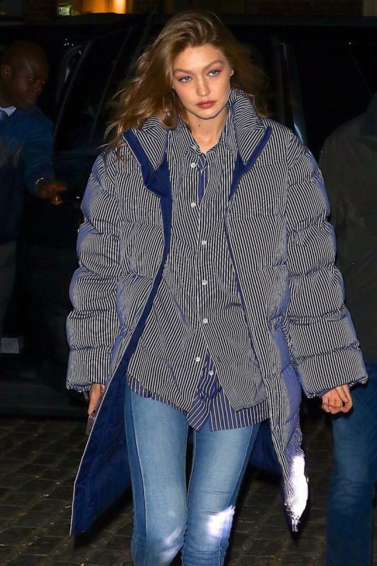 Gigi Hadid Night Out In New York