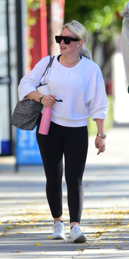 Hilary Duff leaving gym in Los Angeles