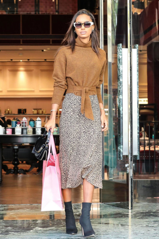 Jasmine Tookes Out Shopping in Beverly Hills