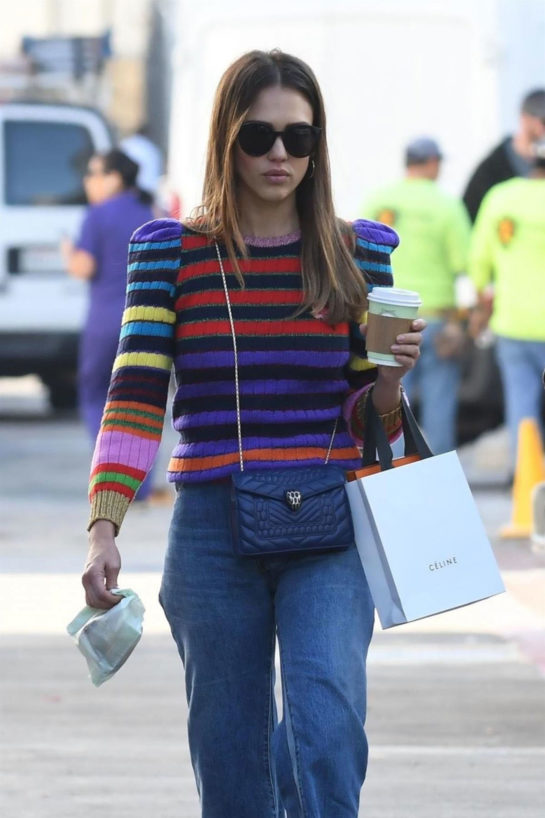 Jessica Alba Out Shopping in Beverly Hills