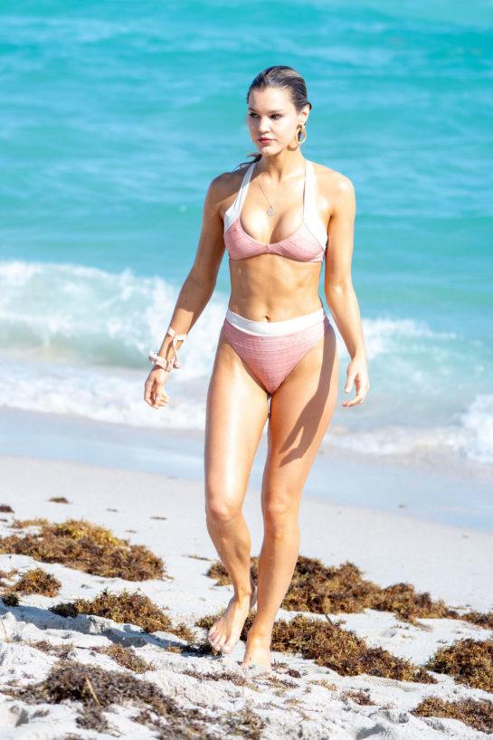 Joy Corrigan in Bikni on the Beach in Miami