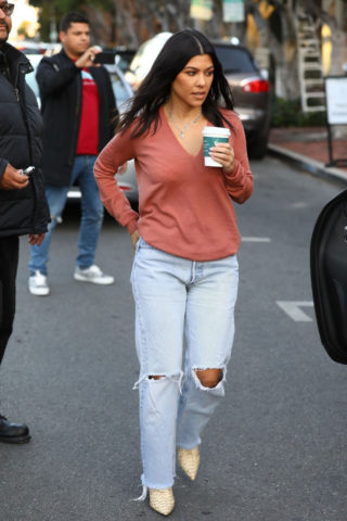 Kourtney Kardashian Out for Coffee in West Hollywood