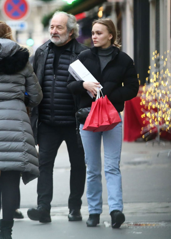 Lily-Rose Depp Christmas Shopping in Paris