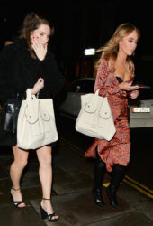 Lottie Moss and Emily Blackwell at Ours Restaurant in London