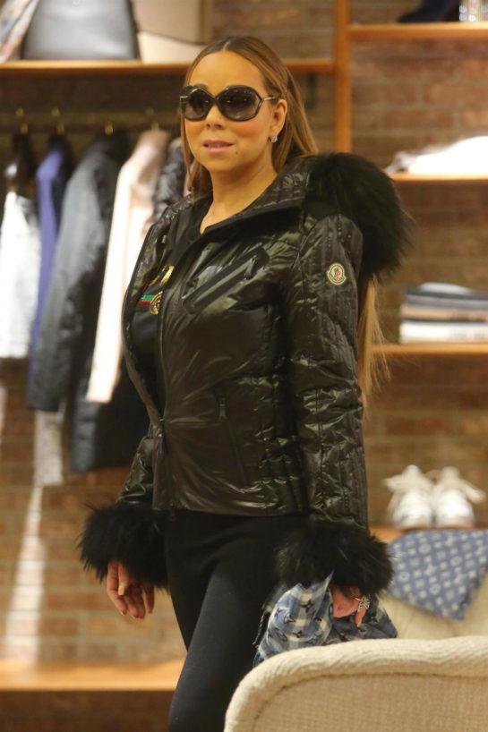 Mariah Carey Shopping at Louis Vuitton in Aspen