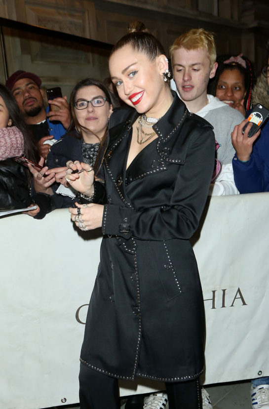 Miley Cyrus at Burberry x Vivienne Westwood party in London
