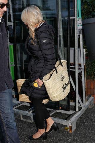 Pamela Anderson Leaving Her Hotel in Paris