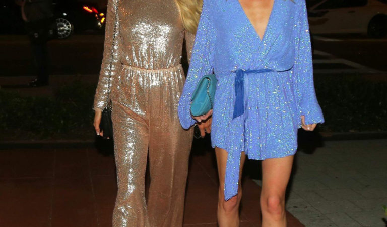 Celebrity Night Out – Paris Hilton and Nicky Hilton Night Out in Miami