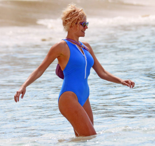 Pixie Lott in Swimsuit on Vacation in Barbados