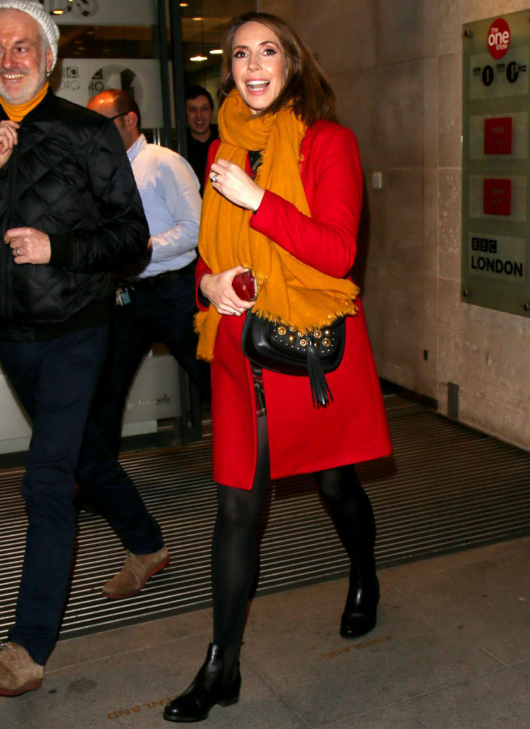 Alex Jones Leaves the One Show at the BBC in London