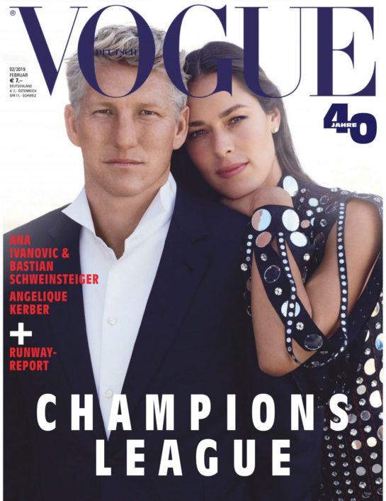 Ana Ivanovic and Bastian Schweinsteiger in Vogue Magazine (Germany February 2019)