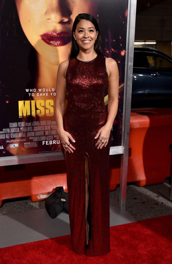 Gina Rodriguez at Miss Bala Premiere in Los Angeles