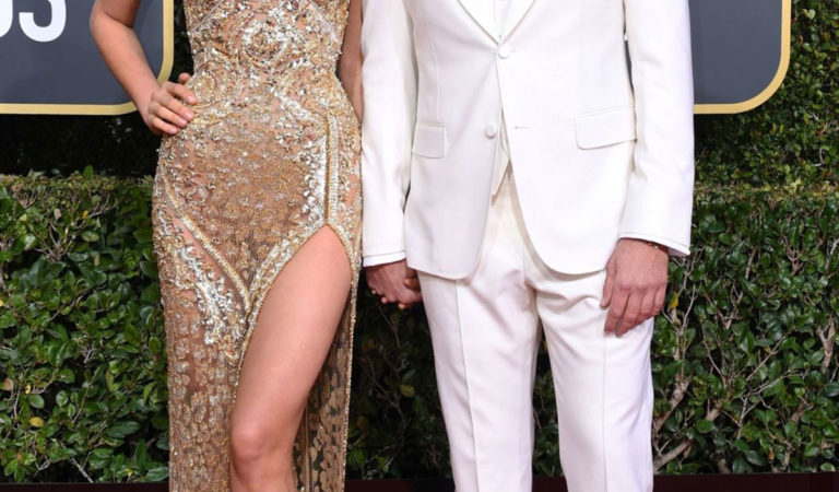 Red Carpet – Irina Shayk and Bradley Cooper at 2019 Golden Globe Awards
