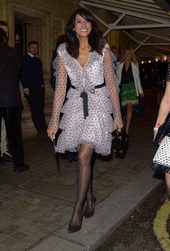 Jackie St Clair leaves at Royal Albert Hall in London