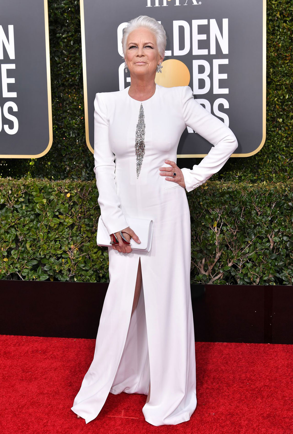 Jamie Lee Curtis at 2019 Golden Globe Awards
