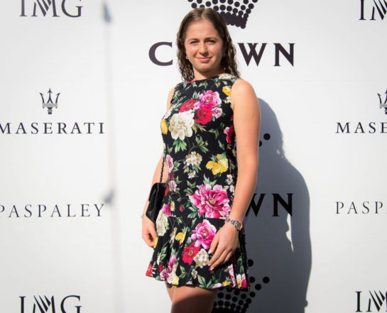 Jeļena Ostapenko at Crown IMG Tennis Party in Melbourne