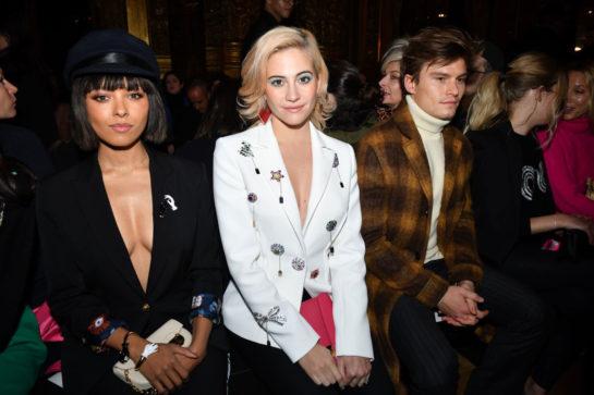 Kate Graham and Pixie Lott at Schiaparelli Haute Couture show in Paris