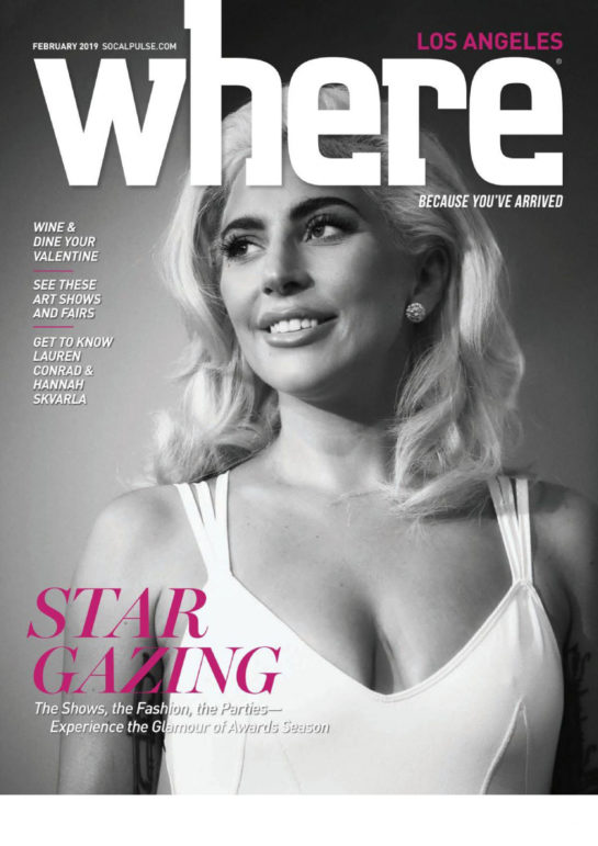 Lady Gaga on the Cover of WHERE Los Angeles Magazine (February 2019)