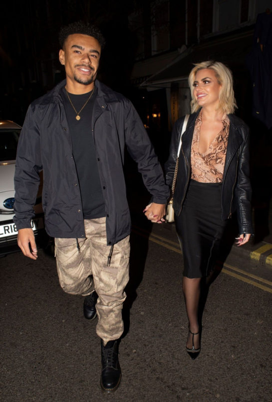 Megan Barton Hanson and Wes Nelson Night Out in London