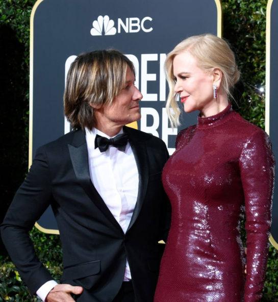 Nicole Kidman and Keith Urban at 2019 Golden Globe Awards