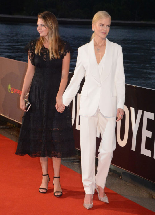 Nicole Kidman and Lucia Hawley at Destroyer premiere in Sydney