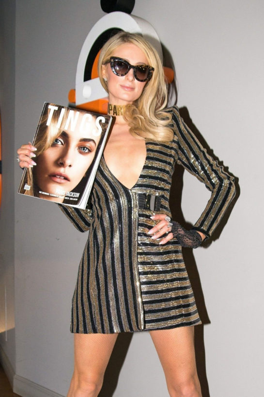 Paris Hilton at Tings Magazine issue 2 party in Milan