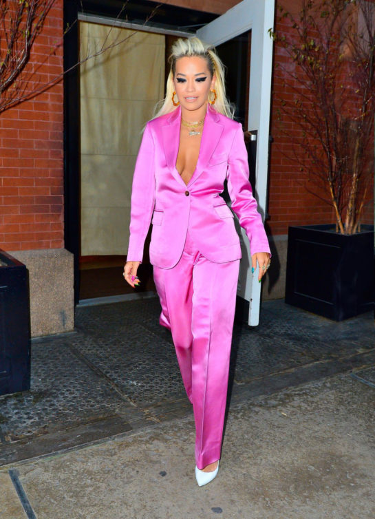 Rita Ora Leaves her hotel in NYC