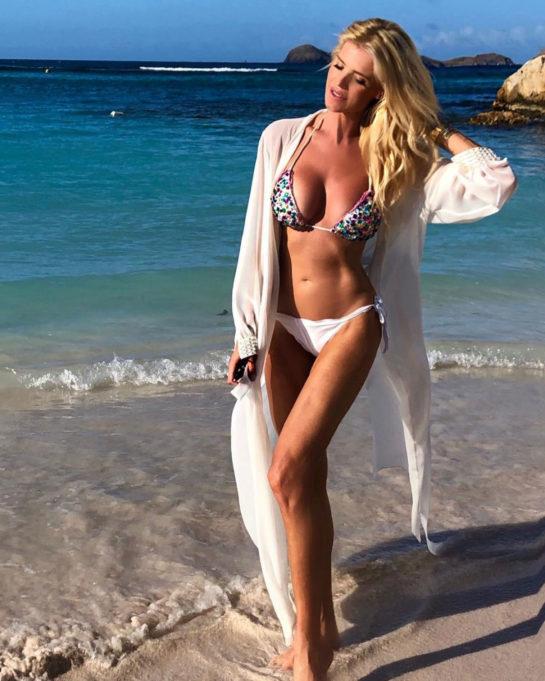 Victoria Silvstedt in Bikini in St Barts