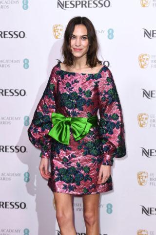 Alexa Chung at BAFTA Nespresso Nominees Party in London