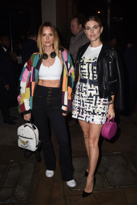 Ashley James and Charlotte de Carle Night Out in London