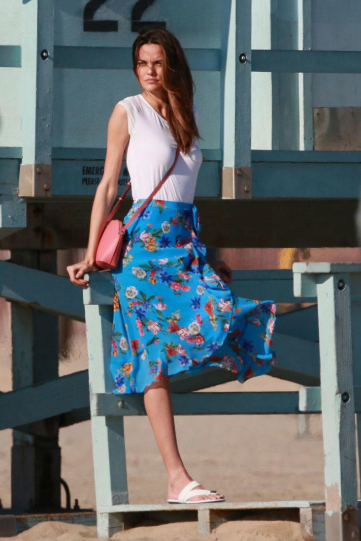 Barbara Fialho Photoshoot for Tommy Hilfiger campaign, Venice Beach