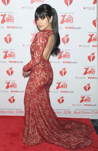 Becky G at American Heart Association's 'Go Red for Women' Red Dress Collection 2019 New York