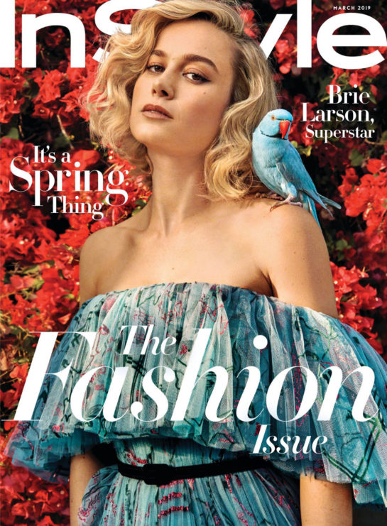 Brie Larson in InStyle US Magazine (March 2019)