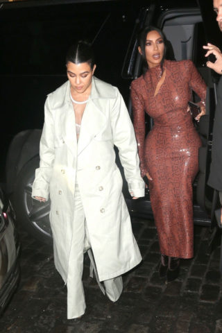Celebrity Night Out - Kim and Kourtney Kardashian Night Out in New York