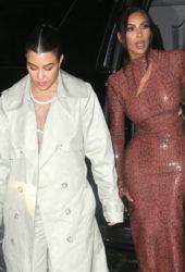Celebrity Night Out - Kim and Kourtney Kardashian Night Out in New York