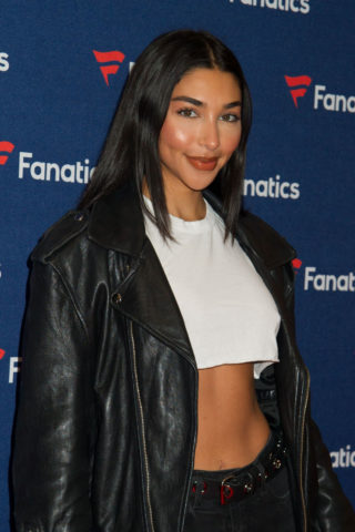 Chantel Jeffries at Fanatics Super Bowl party in Atlanta