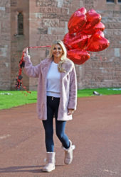 Christine McGuinness At a Valentines Day photoshoot in Cheshire