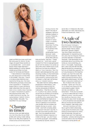 Elsa Pataky in Women's Health Magazine (March 2019)