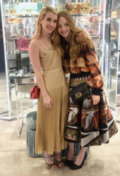Emma Roberts and Amanda Seyfried at Fendi Celebrates Baguette in NYC
